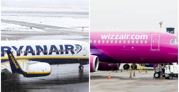 """""""Wizz Air"""" ir """"Ryanair"""" skelbia """"kibernetinio pirmadienio"""" akcijas"""