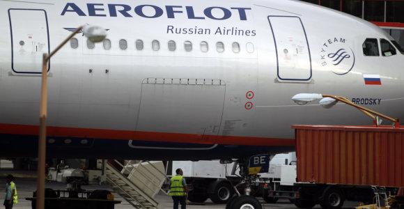 """""""Aeroflot"""" skelbia dėl koronaviruso pandemijos patirianti """"milžinišką spaudimą"""""""