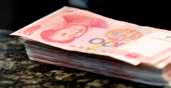 Kinijos bankų blogų paskolų suma antrąjį ketvirtį rekordiškai padidėjo