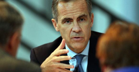 """Anglijos banko vadovas: JK ekonomikos atsigavimas nėra """"garantuotas"""""""