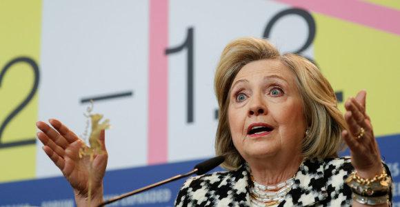 Berlynalėje filmą apie save pristačiusi H.Clinton: V.Putinas norėjo mane nugalėti
