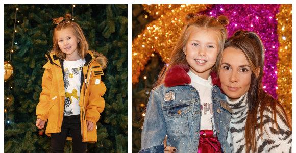 Donato ir Veronikos Montvydų dukra Adelė pristatė žiemai ir Kalėdoms skirtus drabužių derinius