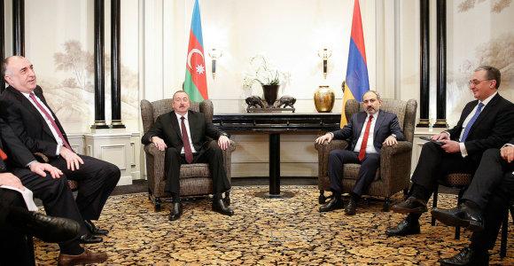 Vienoje susitikę Azerbaidžano ir Armėnijos lyderiai aptarė Kalnų Karabacho konfliktą