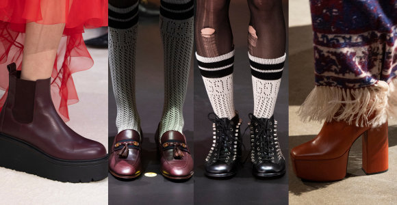 """Žvilgsniai krypsta į batus: rudenį gatvėse karaliaus pašėlę sportbačiai, tigriukai ir kvadratinės """"nosys"""""""