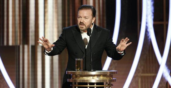 Ricky Gervaiso kalba apdovanojimuose buvo skirta susireikšminusioms įžymybėms ir hipokritiškam Holivudui