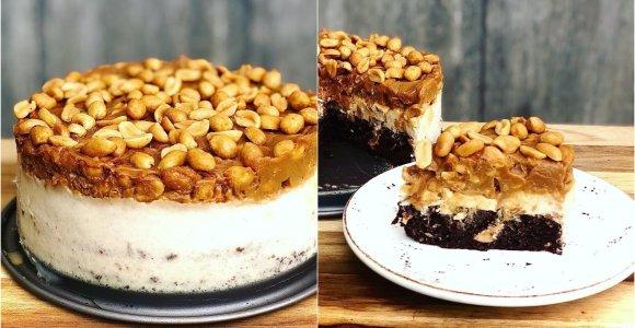"""""""Gal ką skanaus"""" receptas: lengvesnis """"Snickers"""" tortas mažiems ir dideliems"""