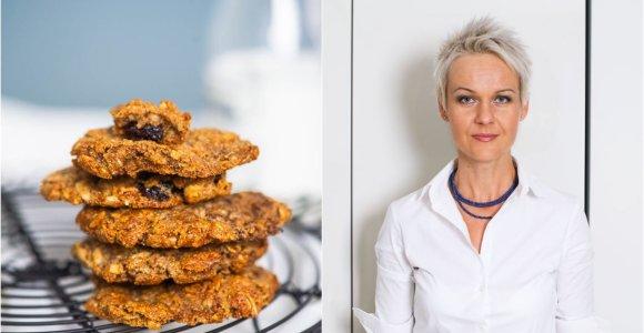 Nidos receptas: avižiniai sviestiniai sausainiai su razinomis
