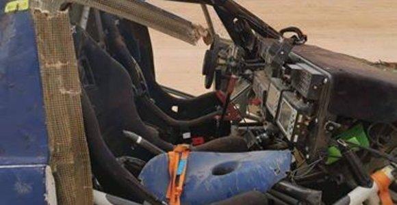 Bobby Pattono ir Robbie Pierce`o  avarija Dakare