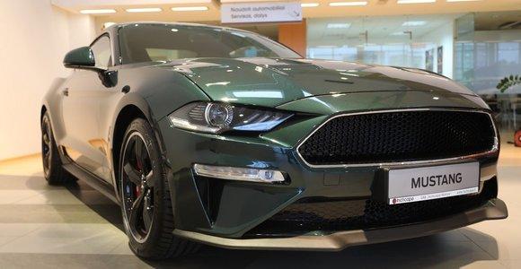 """Riboto leidimo """"Ford Mustang Bullitt"""" Vilniuje"""