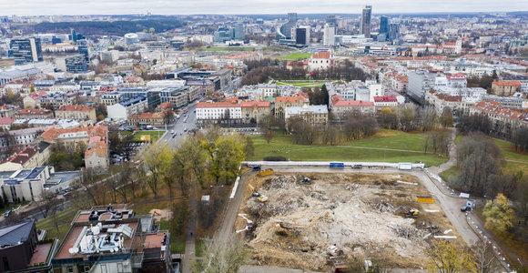 Profsąjungų rūmų neliko: teritoriją žada sutvarkyti iki gruodžio 1 dienos