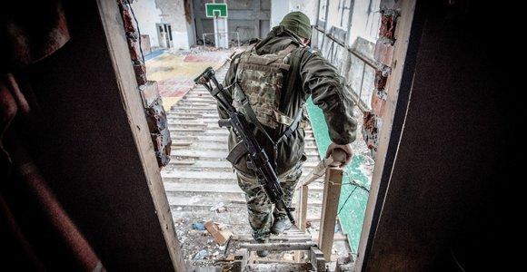 Ukrainos karių buitis priešakinėse pozicijose