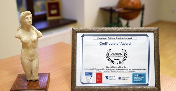 Prestižinis Europos apdovanojimas Kauno rajonui – už žirgyną, kuriame skleidžiasi kultūra
