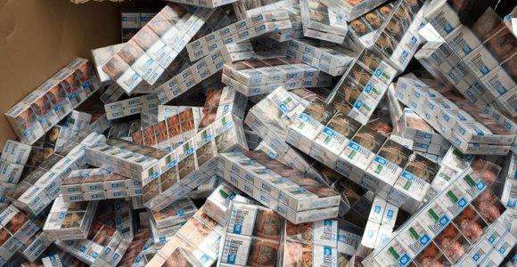 Marijampolėje sulaikyta milijono eurų vertės cigarečių kontrabanda