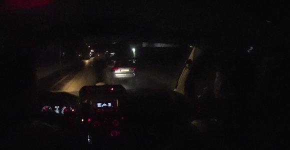 """""""Audi"""" gaudynių Kaune vaizdo įrašas: vairuotojas – girtas ir beteisis"""