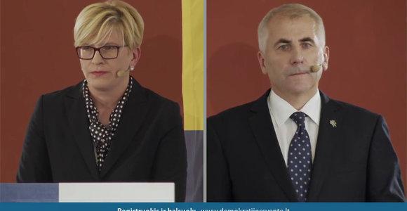 I.Šimonytės ir V.Ušacko pasisakymai apie J.Noreiką-Vėtrą
