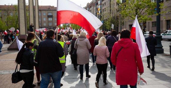 Lietuvos lenkų šventinė eisena Vilniuje