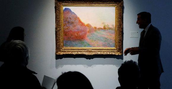 C.Monet paveikslas parduotas už rekordinę sumą – tai viena didžiausių kainų, pasiūlytų aukcionuose