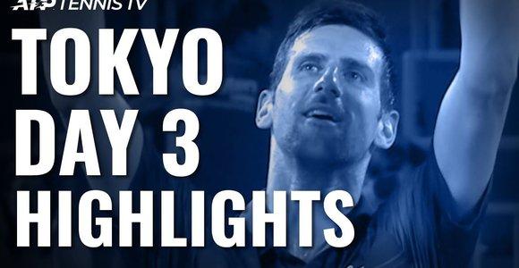 Trečioji ATP turnyro Tokijuje diena: laimėjo N.Džokovičius, sužibo L.Pouille