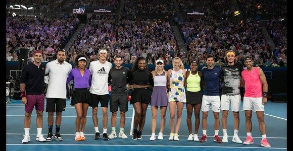 """""""Rally for Relief"""" labdaringa tenisininkų šventė Melburne"""