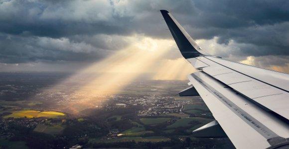 """""""Oro navigacija"""": skrydžių balandžio pradžioje sumažėjo 83 proc."""