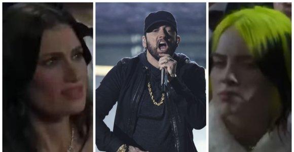 """""""Oskarų"""" apdovanojimuose – netikėtas Eminemo pasirodymas: žvaigždės neteko amo"""
