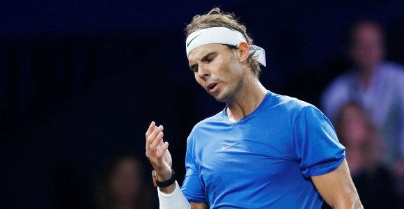 Rafaelis Nadalis pasitraukė iš turnyro Šanchajuje
