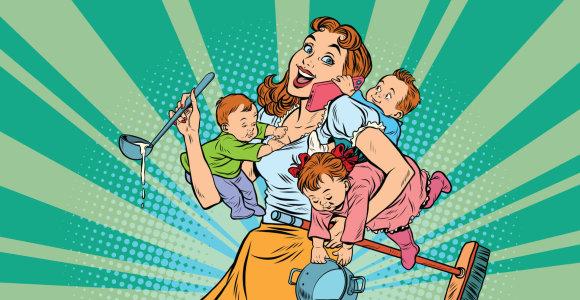Karantinas su vaikais – ne atostogos: apsišarvuokite kantrybe ir nuleiskite kartelę žemiau