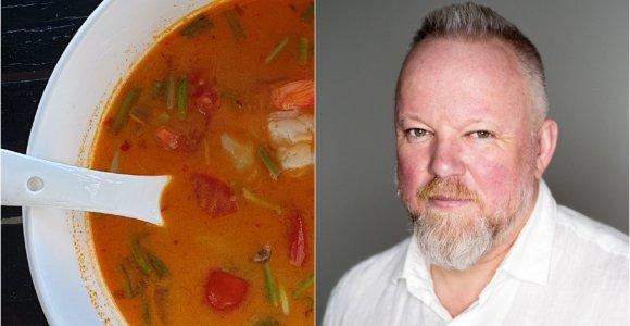 """Vytaro Radzevičiaus """"Pasaulio puodai"""": Tom Yam sriuba su krevetėmis"""