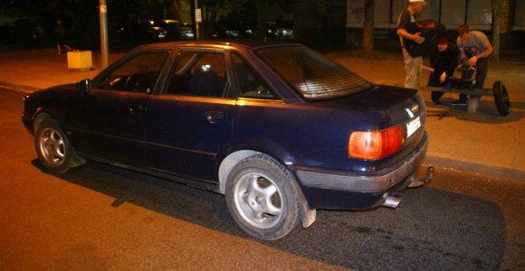 """Panevėžyje sučiuptas girtas ir teisių neturintis """"Audi"""" vairuotojas"""