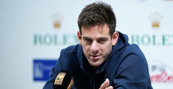 """Reabilitacija tęsiasi – Juanas Martinas Del Potro praleis """"US Open"""""""