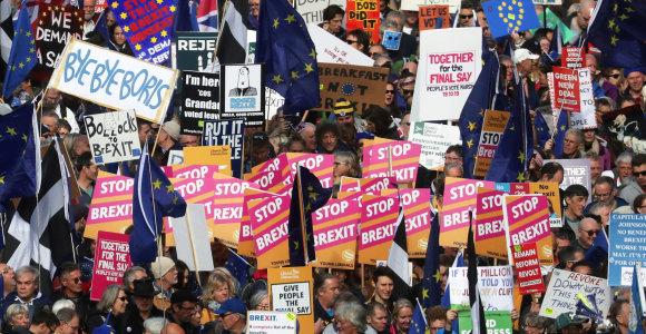 """JK Leiboristų partija reikalauja referendumo dėl """"Brexit"""" susitarimo"""
