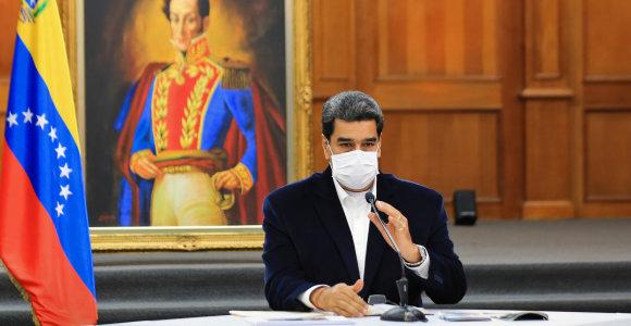 """N.Maduro: J.Guaido """"įsiveržimą"""" į Venesuelą planavo Baltuosiuose rūmuose"""