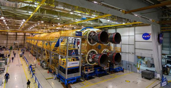 NASA baigė konstruoti naujos skrydžių į Mėnulį raketos pagrindinę dalį