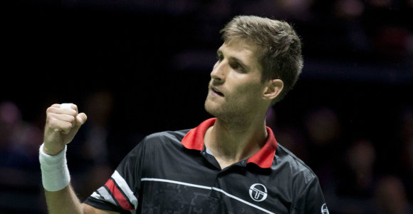 ATP turnyre Hamburge – žaibiška Martino Kližano pergalė