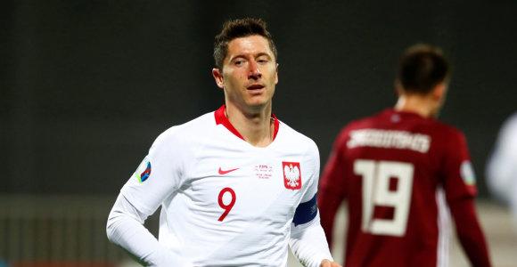 """""""Euro 2020: Latvijoje 3 R.Lewandowskio įvarčiai, belgai įmušė 9 ir pirmieji gavo bilietą"""