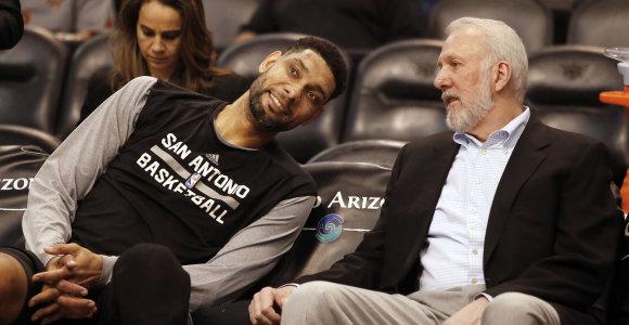 """T.Duncaną į trenerių štabą pakvietęs G.Popovichius: """"Neįsivaizduoju, kodėl jį pasamdžiau"""""""