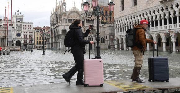 Venecija pradeda atsigauti po savaitę trukusių rekordinių potvynių