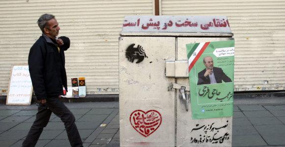 Irane prasideda parlamento rinkimų kampanija