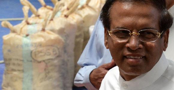 Šri Lankos prezidentas nusprendė nesiekti perrinkimo