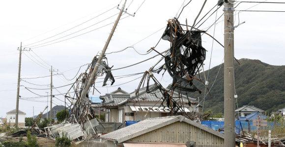 Taifūno nusiaubtoje Japonijoje beveik 80 tūkst. namų vis dar neturi elektros