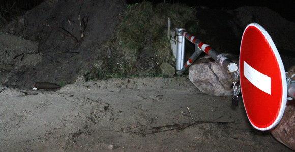 Panevėžio rajone aptiktas pavojingas sprogmuo – policija budės per naktį