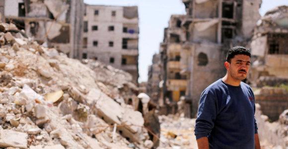 Sirijos Alepe pirmąkart nuo 2012 metų nusileido civilinis orlaivis