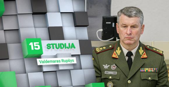 15min studijoje – naujasis kariuomenės vadas V.Rupšys