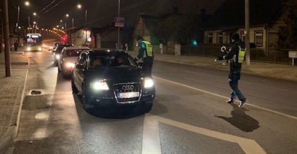 Savaitgalio reidai Kaune: įkliuvo lengvai apsvaigę vairuotojai