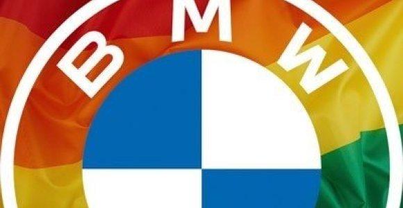 Kodėl BMW savo logotipą nudažė vaivorykštės spalvomis?