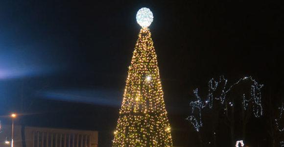 Kuršėnų kalėdinės eglės įžiebimas