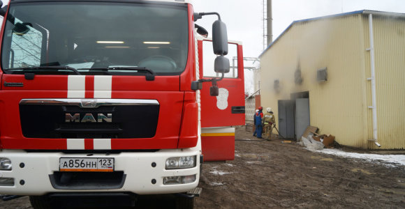Fabrike prie Sankt Peterburgo driokstelėjo sprogimas, esama sužeistų