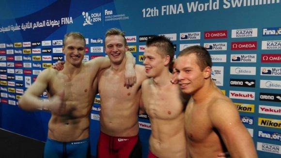 ltuswimming.lt nuotr./Mindaugas Sadauskas, Giedrius Titenis, Danas Rapšys ir Tadas Duškinas