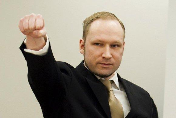 """Reuters""/""Scanpix"" nuotr./Andersas Behringas Breivikas teisme"