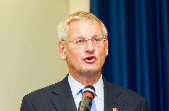 Irmanto Gelūno/15min.lt nuotr./Carlas Bildtas, Švedijos užsienio reikalų ministras